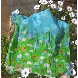Foulard carré en soie...